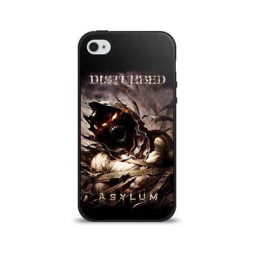 Чехол для Apple iPhone 4/4S силиконовый глянцевый Disturbed
