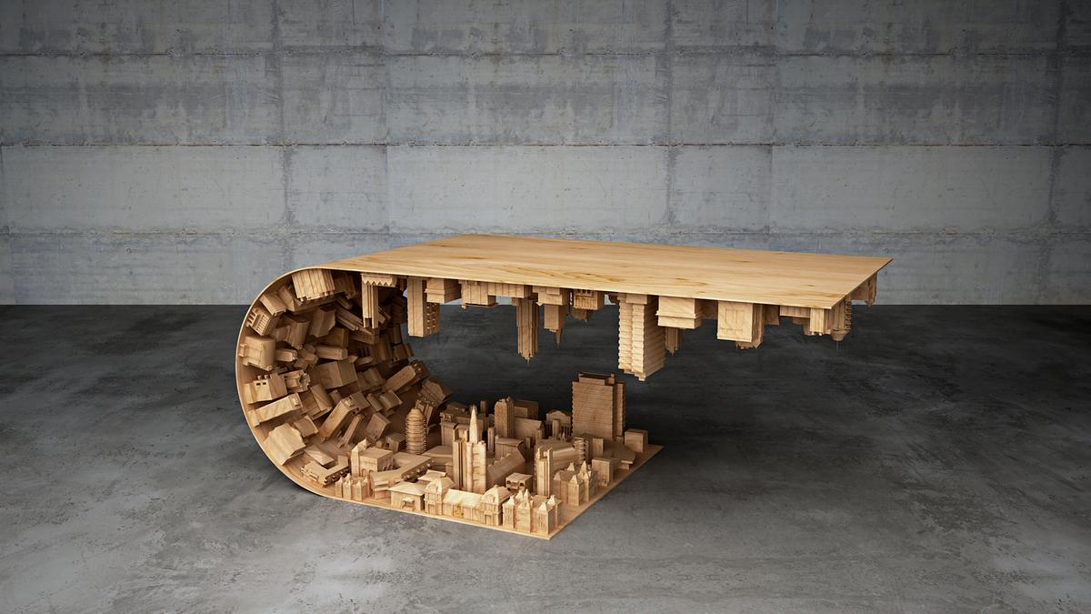 необычный стол своими руками фото скорее то, что