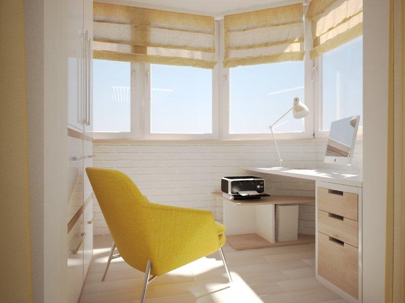 """Дизайн маленького балкона под белый кирпич"""" - карточка польз."""