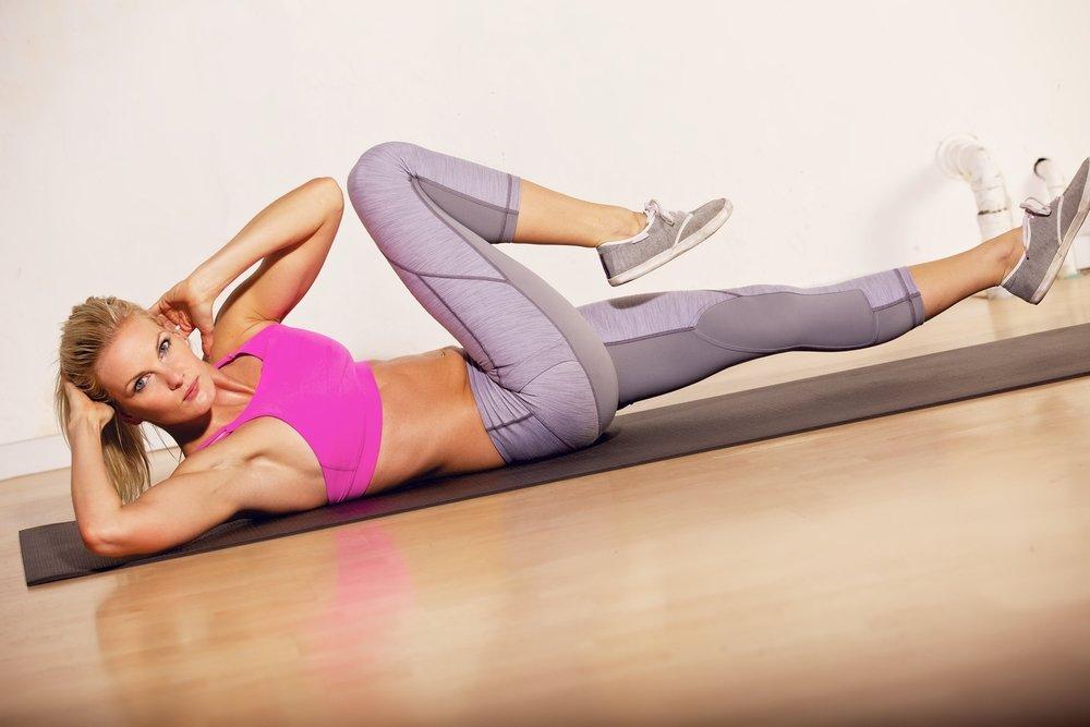 Упражнения для похудения живота пресс