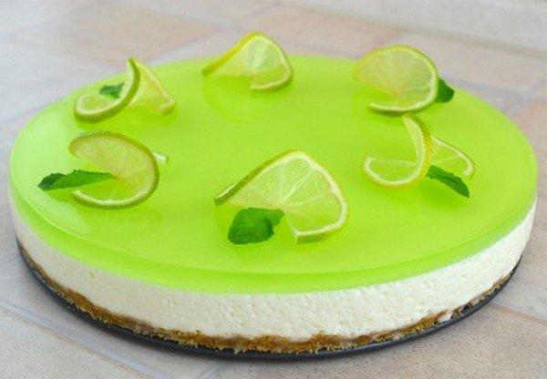 Рецепт желейный тортик из киви и сметаны без выпечки рецепт 71
