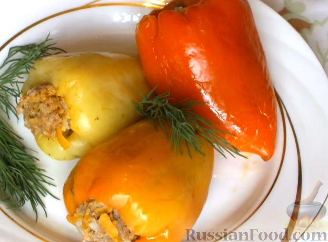 фаршированный перец рисом рецепт с фото