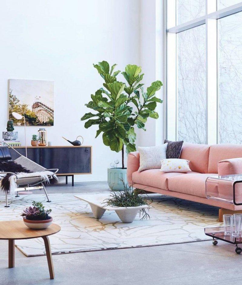 Кофейный столик с секцией для комнатных растений