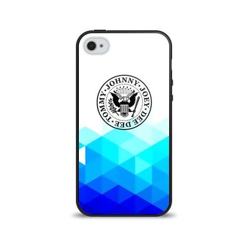 Чехол для Apple iPhone 4/4S силиконовый глянцевый Ramones 7