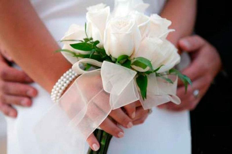 Милый свадебный букетик