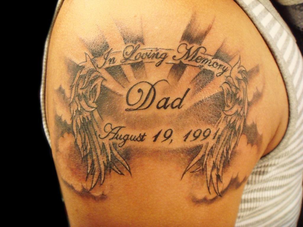 фото красивой тату с памятной датой большой выбор