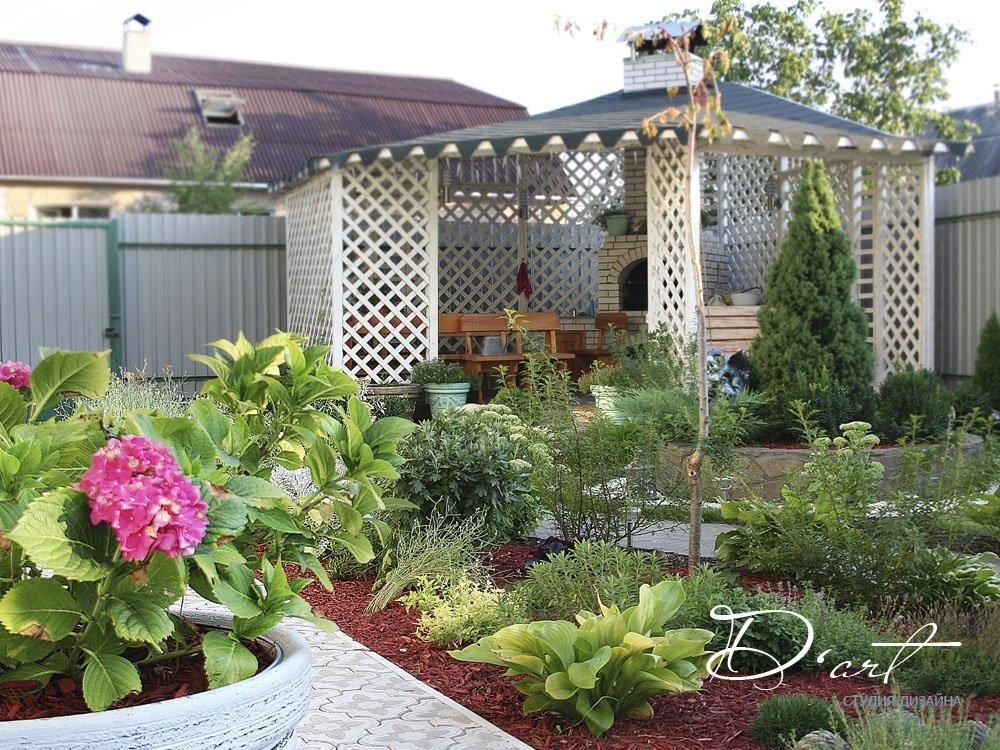 Дизайн ландшафта возле дома своими руками фото фото 847