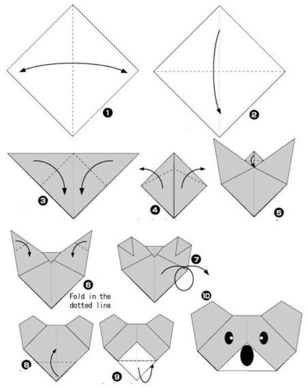Оригами из бумаги для начинающих картинки