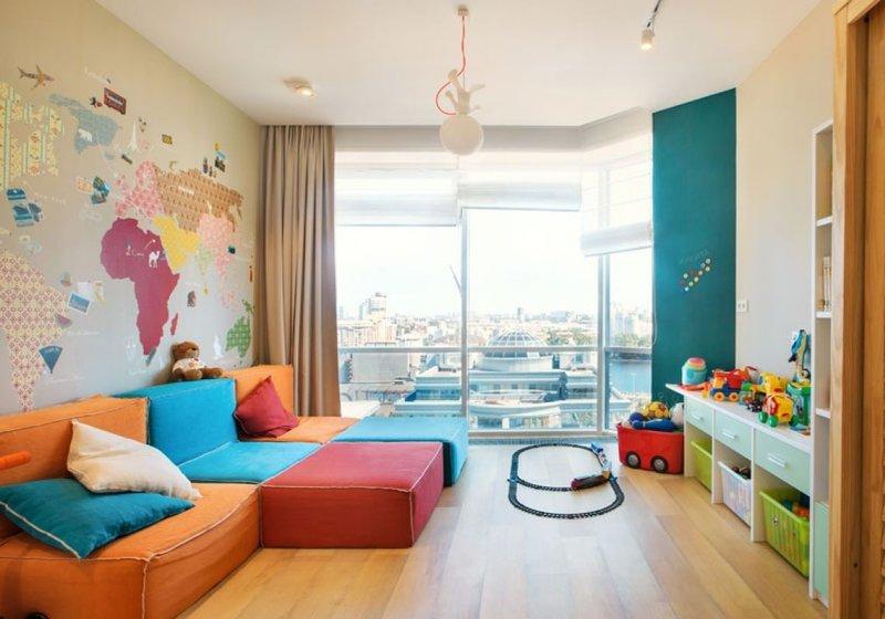 Однокомнатная квартира для семьи с ребенком: дизайн. - Houzz 18