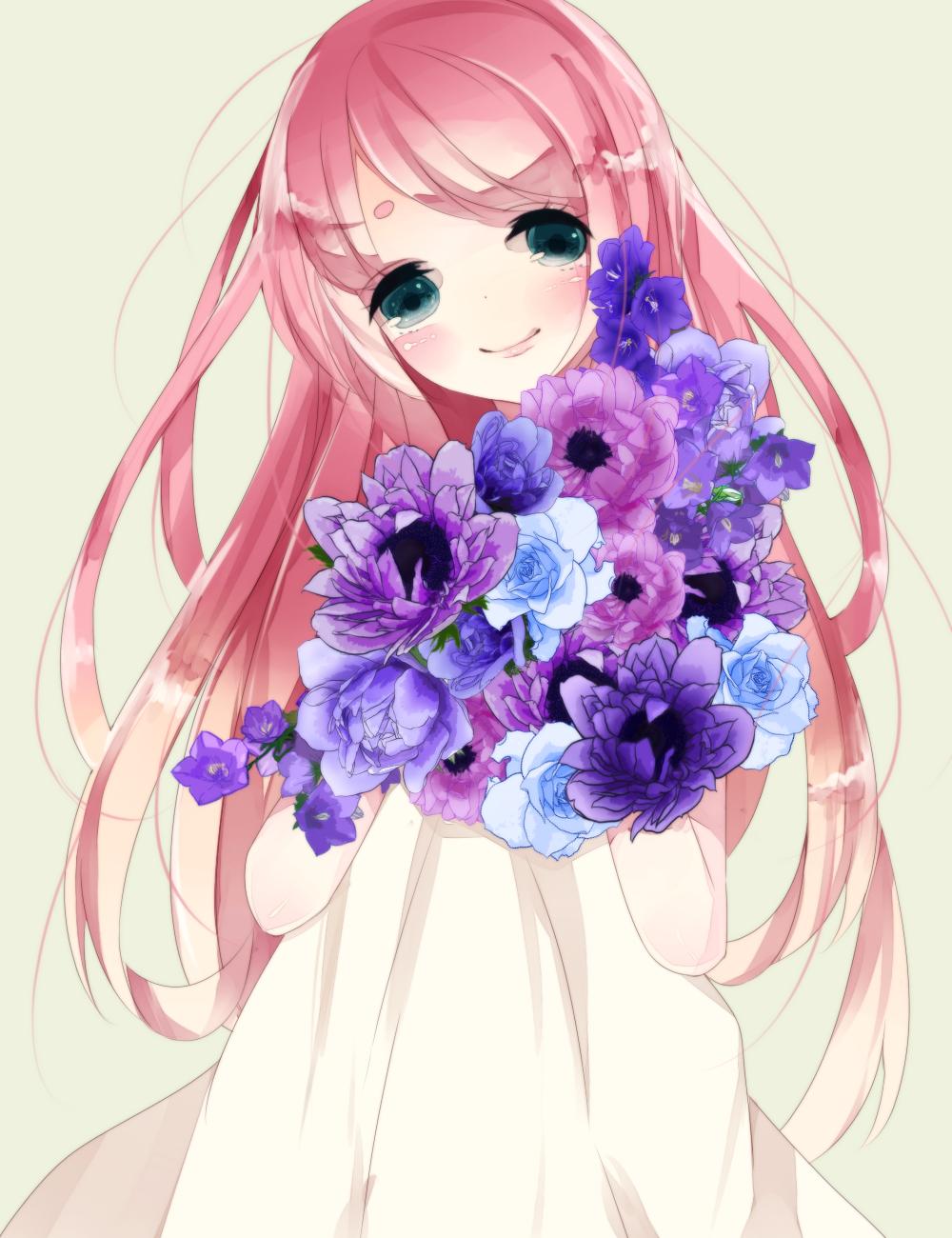 Рисунки аниме в цвете
