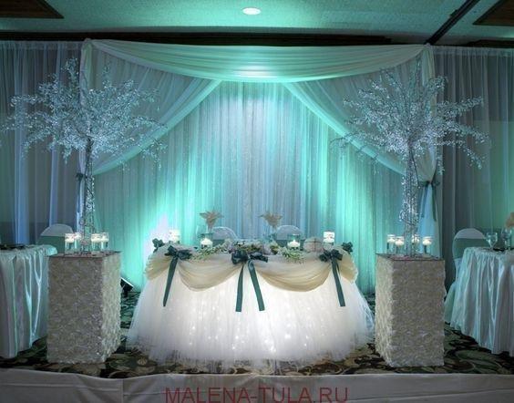 Свадебный декор банкетного зала. Зимний банкет