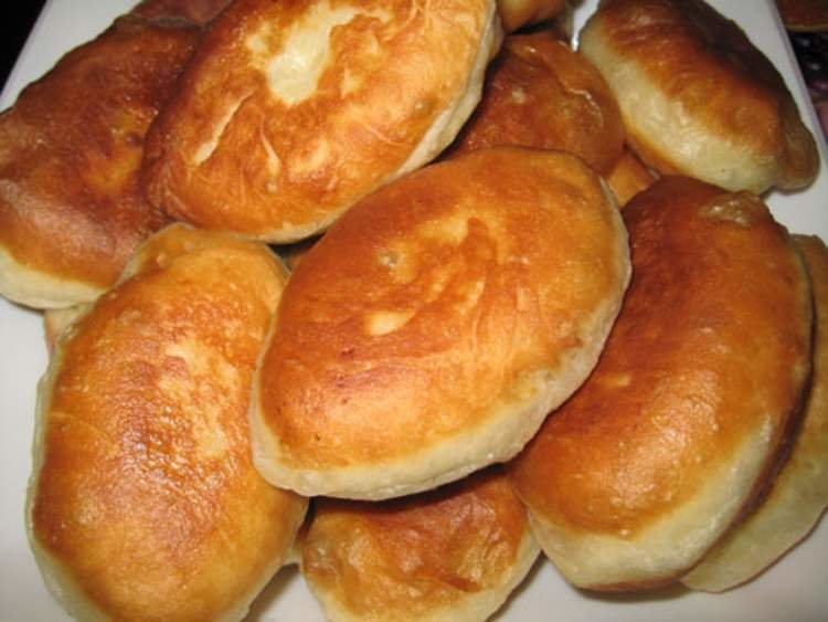 пирожки с капустой жареные на кефире без дрожжей