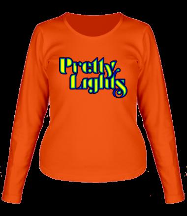Женская футболка с длинным рукавом PrettyLights
