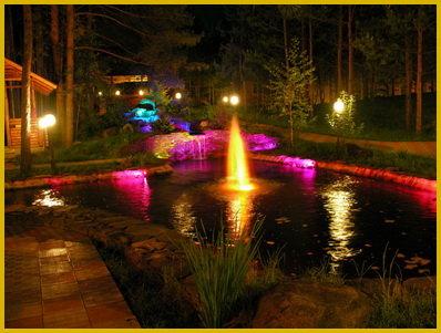 Подсветка водоема, виды, характеристики, монтаж:В статье Вы найдете ответ на вопрос:Подсветка водоема, виды, характеристики, монтаж
