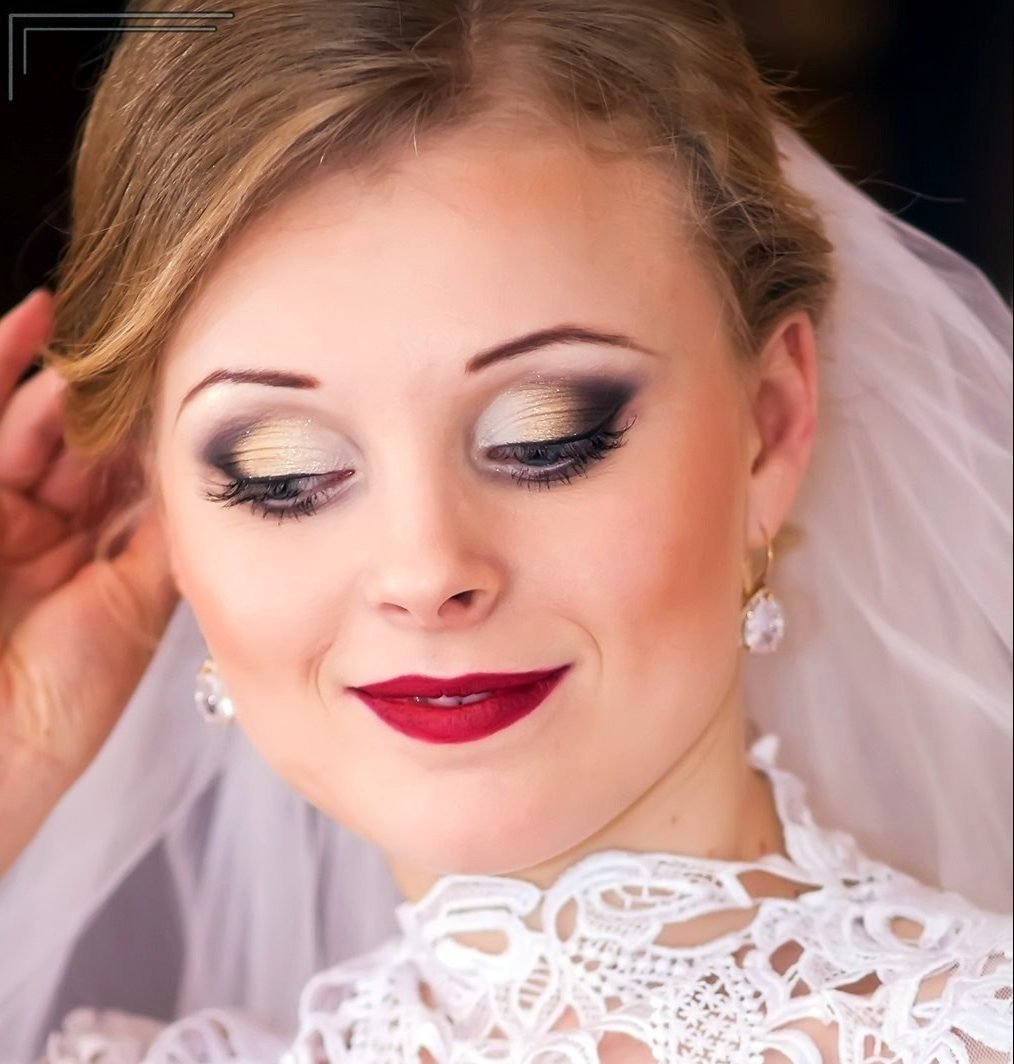 Матовый свадебный макияж фото