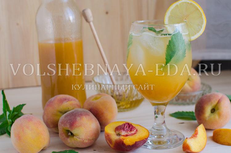 Персиковый лимонад-летний напиток