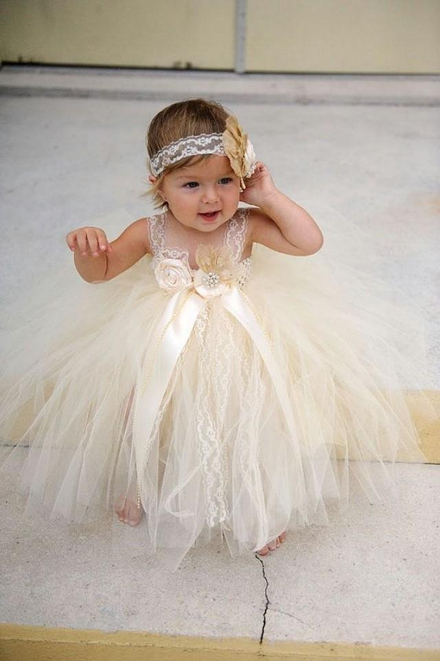 808b62e1cd1 ... Flower Girl Dress Ivory Flower Girl Dress Lace Flower Girl Dress Rustic  Country Wedding Dress Baptism
