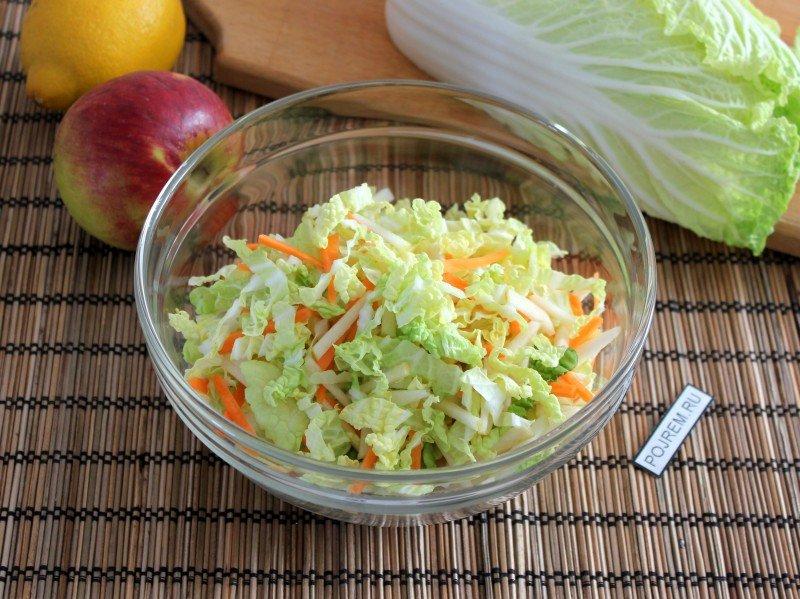 салат из свежей капусты простой и вкусный