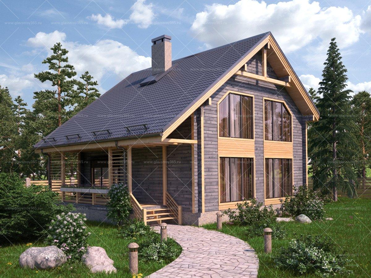 просмотра дом деревянный двухэтажный с террасой фото окраска