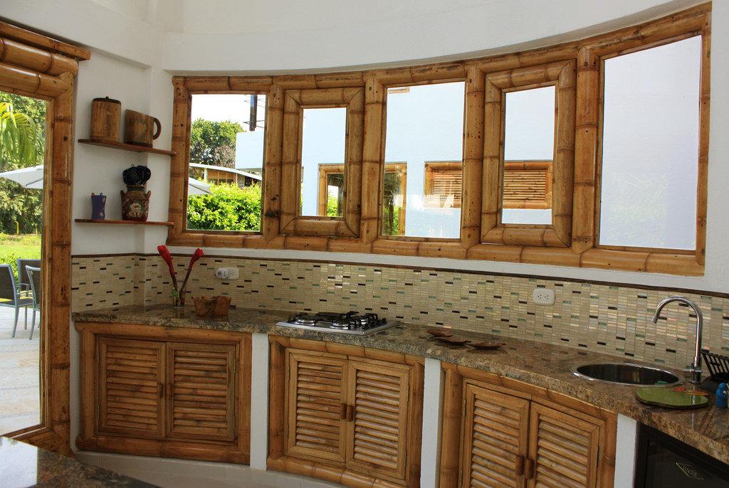 фотографа кухни под бамбук дизайн фото создать слой нужной