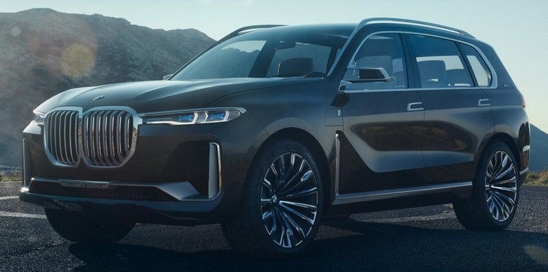 Мощный BMW X7.