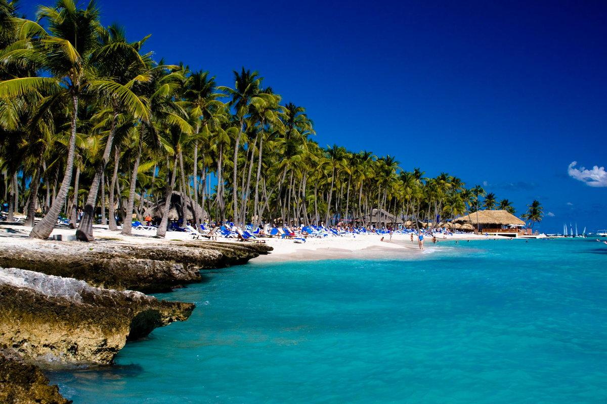 доминикана фото пляжей туристов ограде