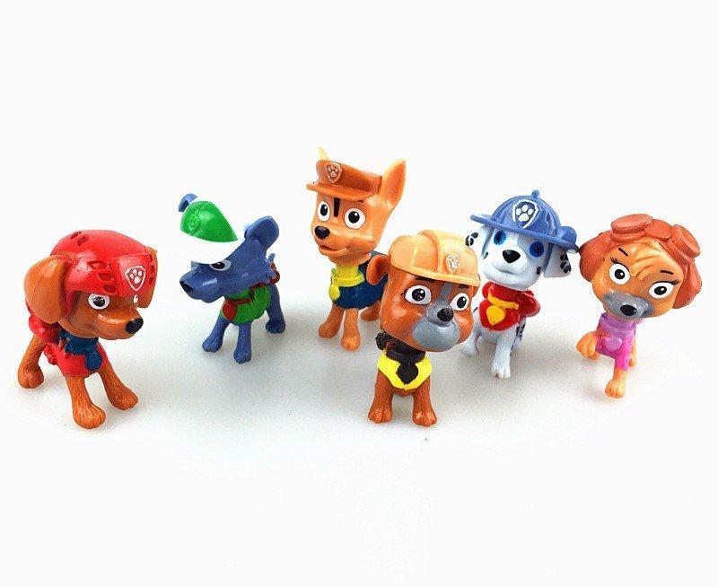 Popular Baby Toys 6pcs lot Cute Puppy Dog Patrol Vinyl Doll Action Toy Figures Patrulla Canina