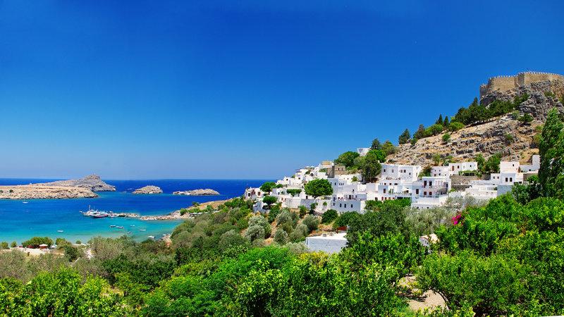 Греция дома, размер: 1366x768 пикселей