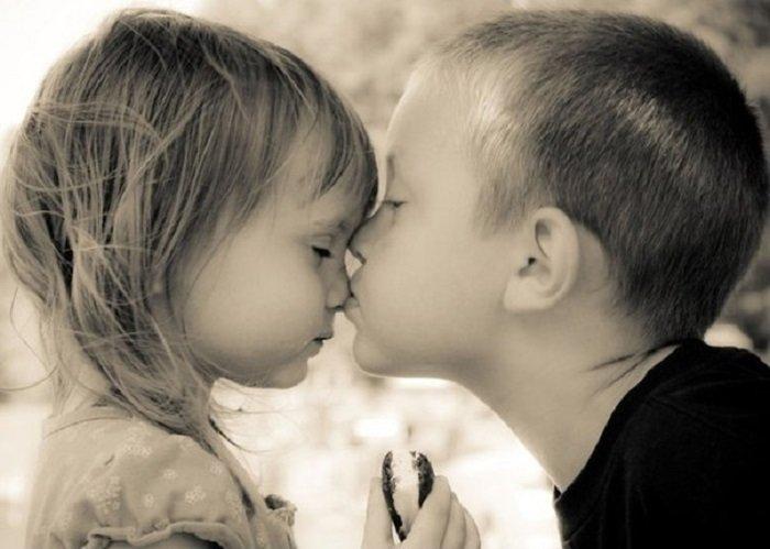 Картинки дети целуются с надписями, биологии класс