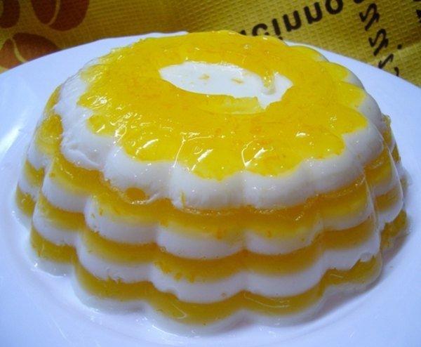 Молочно-апельсиновое желе - очень вкусный молочно-цитрусовый десерт.