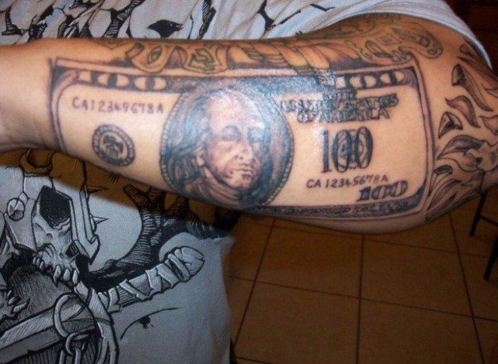 "100 dollar tattoo designs"" — card from user nasinnik.elena in yandex"