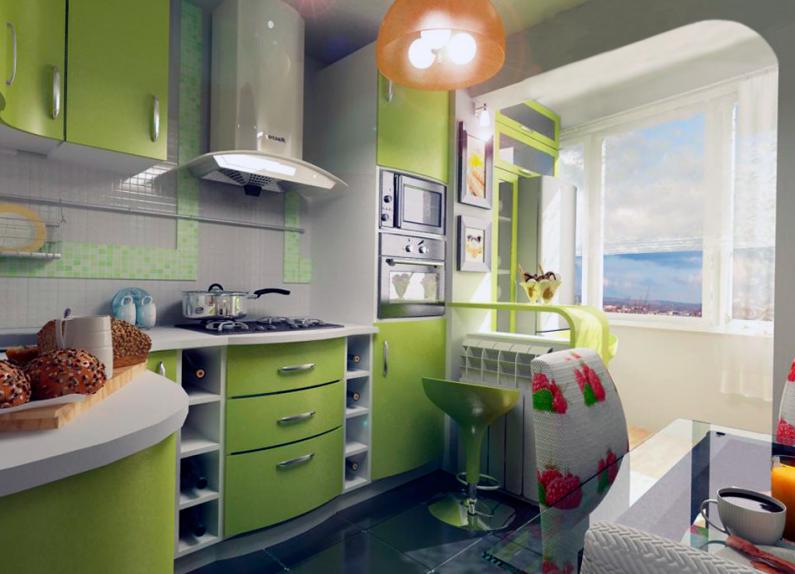 дизайн кухни совместить с балконом узкая Волосы, как