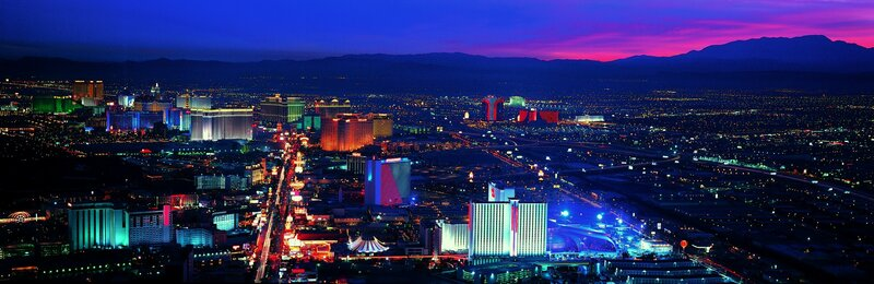 Лас-Вегас, панорама, ночь