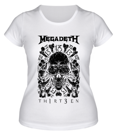 Женская футболка Megadeth - thirteen