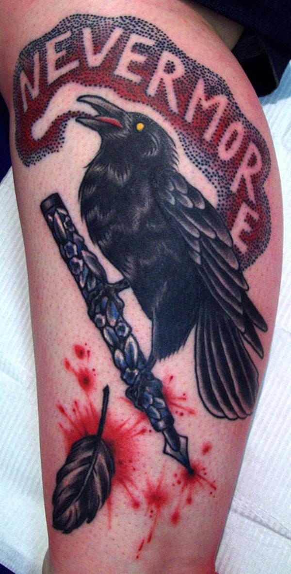 Что означает татуировка черного ворона