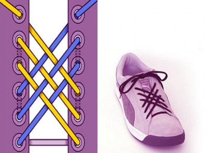 Красиво завязать шнурки в картинках бравый