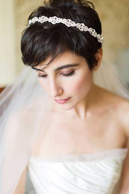 невеста с короткой стрижкой