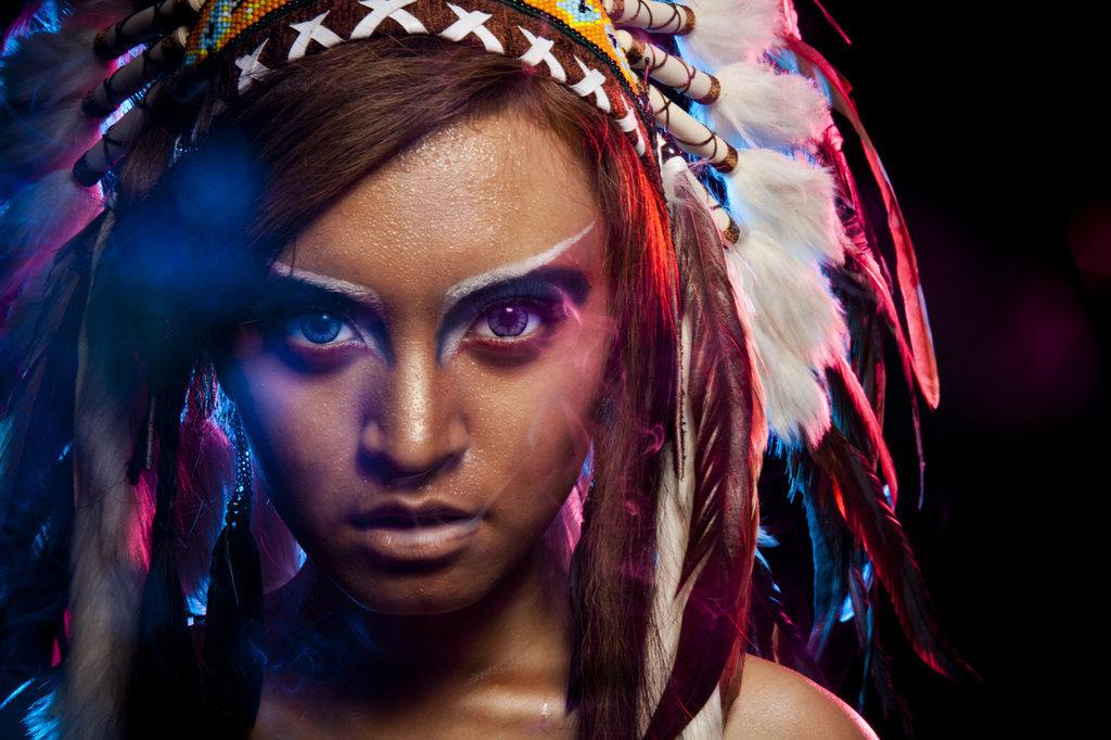 Фотосессии в образе индейцев