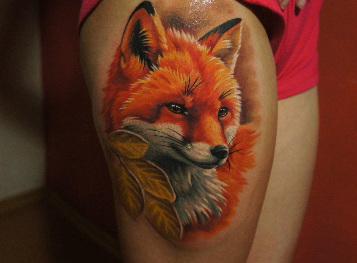 Картинки с татуировкой лисы