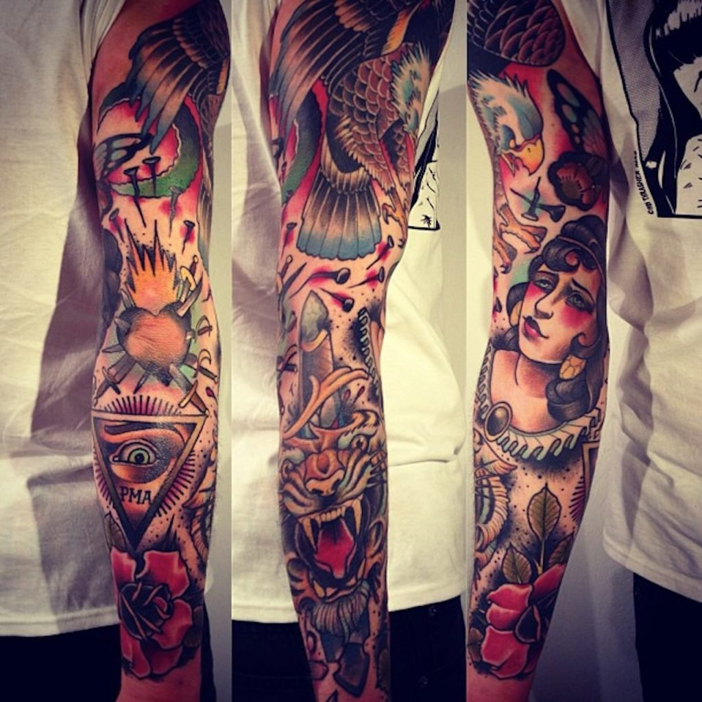 Beautiful Traditional Japanese Tattoo Sleeves 3d 1024x1024jpg 1024