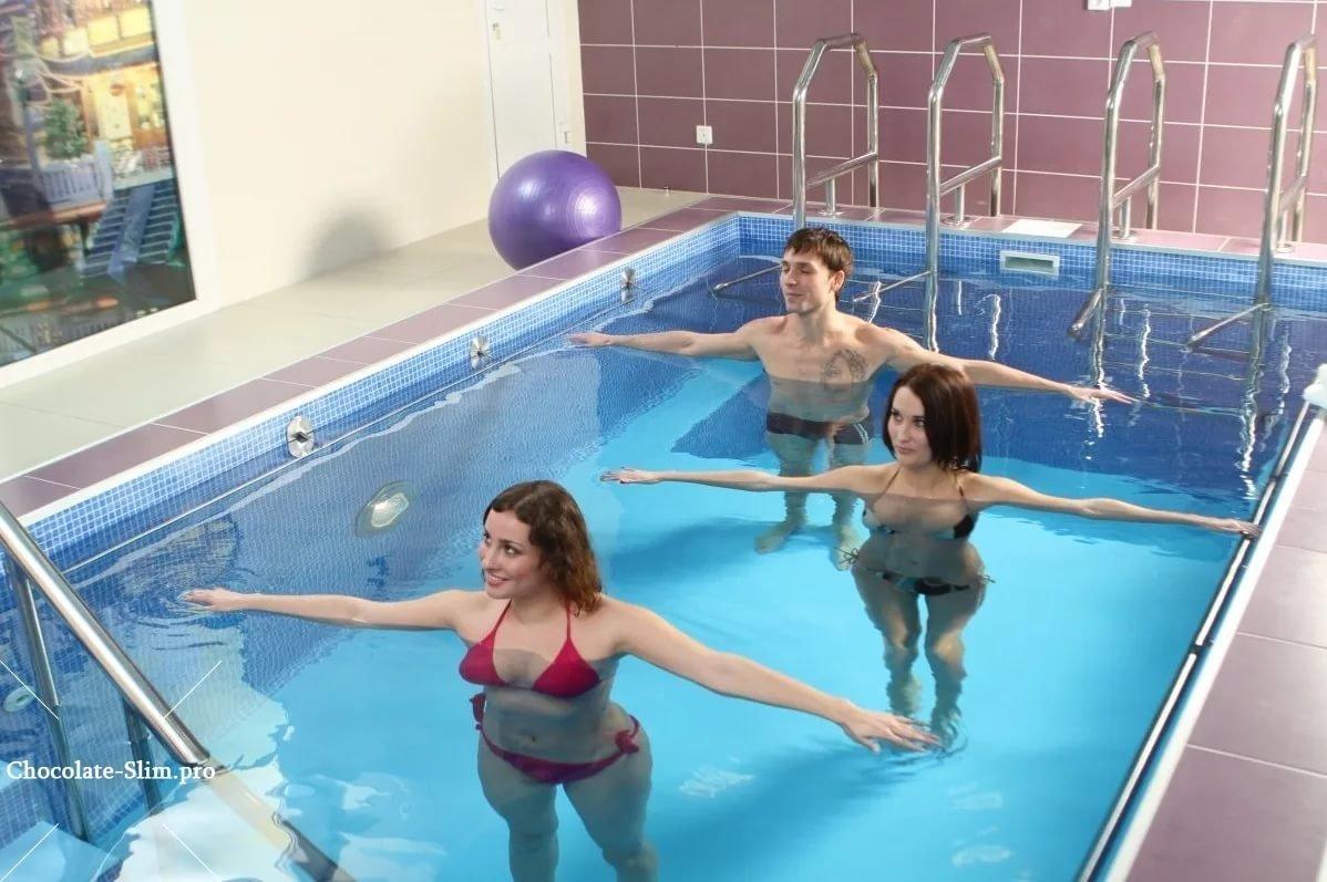Зарядка в бассейне при остеохондрозе