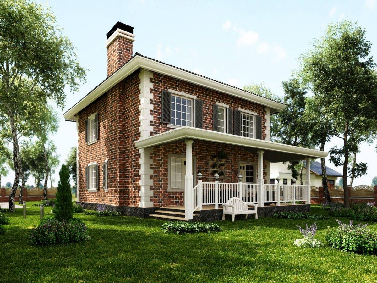 кирпичный дом с террасой проекты фото возникновения гитары