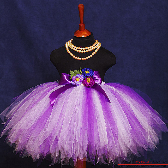 юбка из фатина для девочки