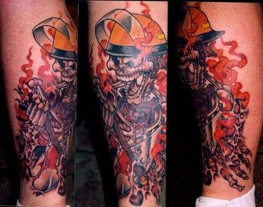 фото тату пожарных 29.03.2019 №069 - fireman tattoo - tatufoto.com ... | 295x375