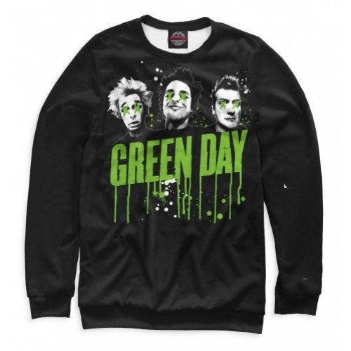 Мужской свитшот 3D Green Day