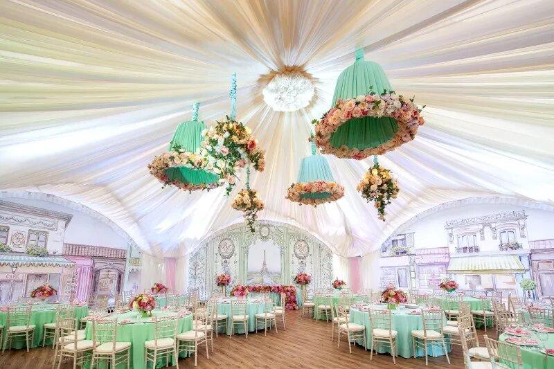 Оформление свадебного зала в современном стиле. Выбор размера зала . Развлечение для детей на свадьбе. Украшение свадебного зала цветами, воздушными шарами.