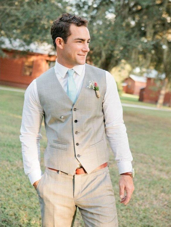 Костюм серый на свадьбу