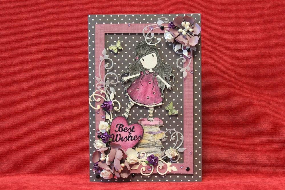 Скрап открытки для девушки