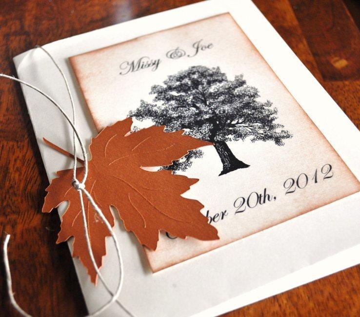 Для мужчины, открытки свадьба осенью