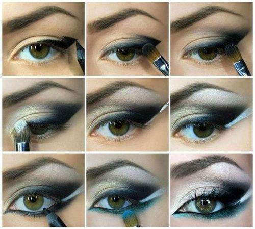 """Как правильно делать """"кошачий"""" макияж глаз? Советы от Wobs! Картинки по запросу макияж кошачий глаз пошагово"""